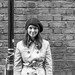 Irish girl in Manchester by Mike Kniec