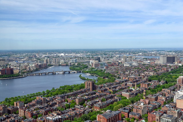 Boston from the sky
