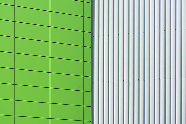 Green and grey wall
