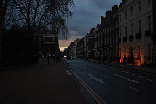 Gower Street from Bedford Square