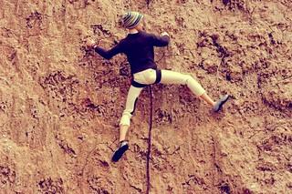 Niccolo climbing