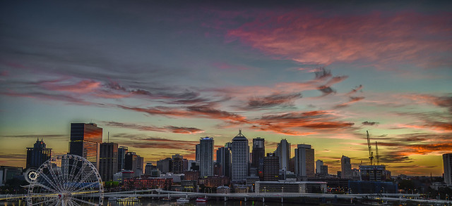 Dawn over Brisbane