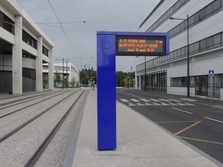 Afficheur temps d'attente bus  -  Tours FIL BLEU | by A - Bobo