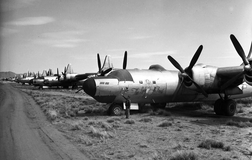 March 29, 1946: Surplus World War II aircraft sit at Kingm… | Flickr