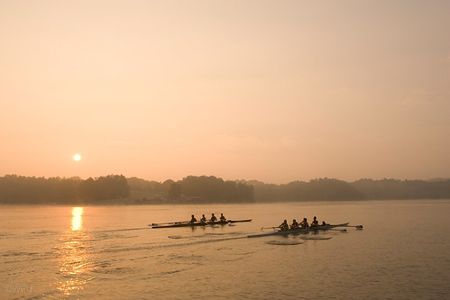 Wake Forest Rowing Club at Salem Lake