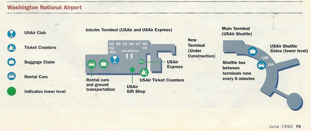 USAir diagram of Interim Terminal at Washington National ...