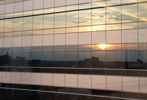windows reflections downtown cityscape sunsets maryland baltimore iphone mercyhospital cmwdyellow