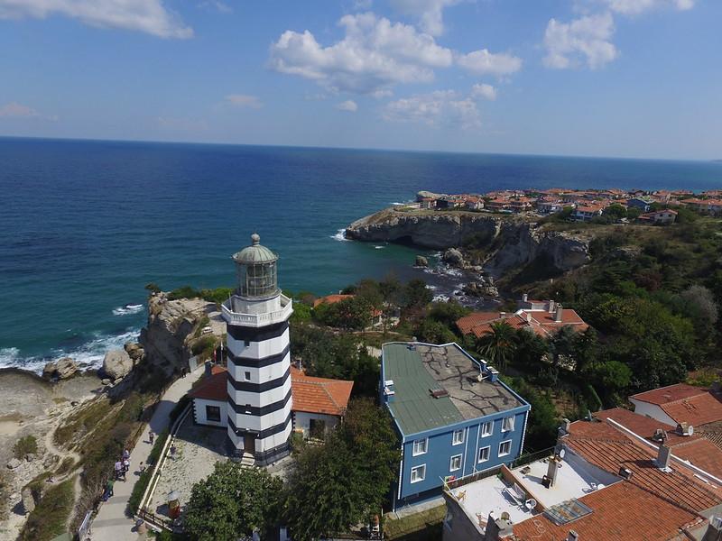 Şile lighthouse from the air