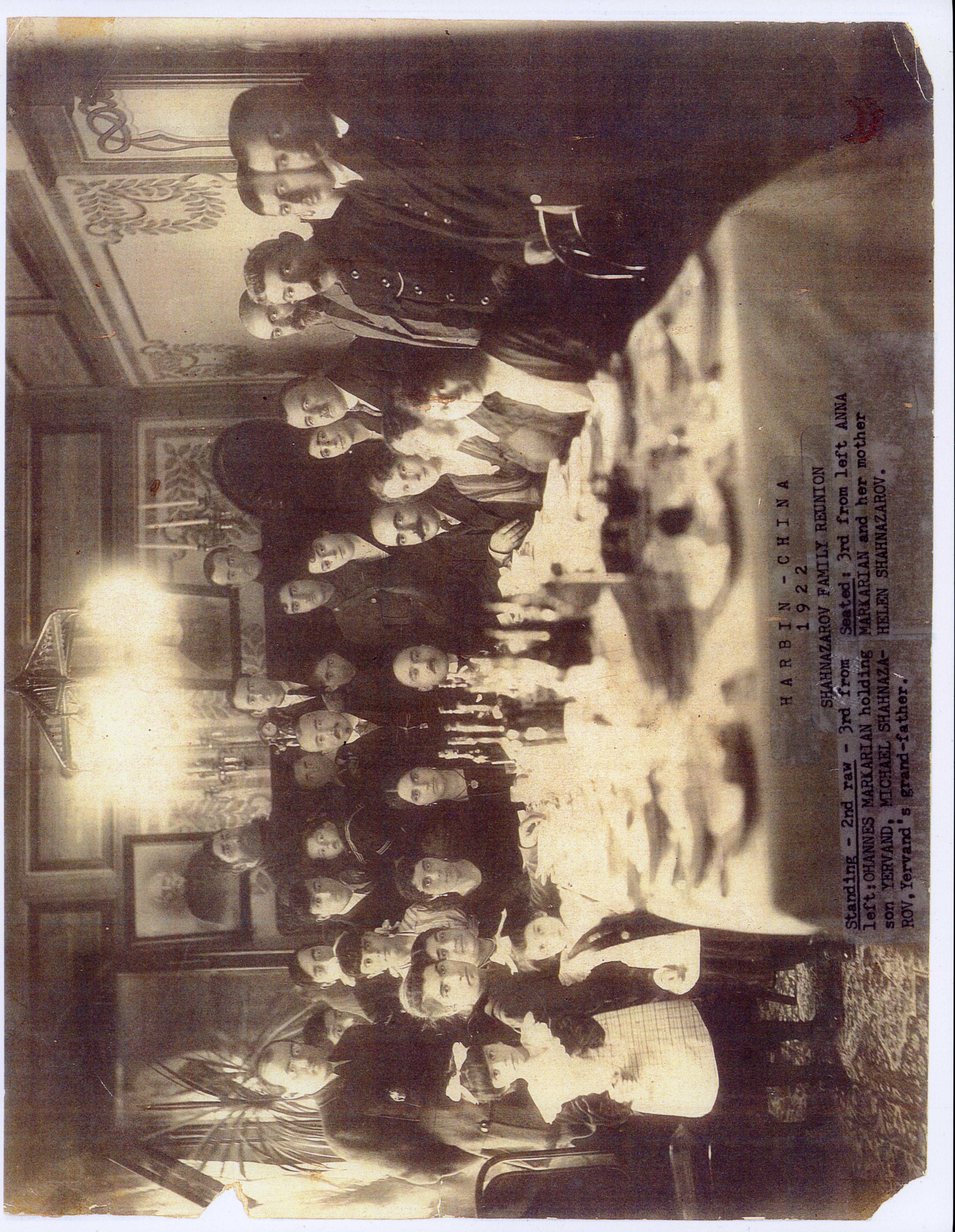 Portrait of Armenian family, Harbin, China, 1922