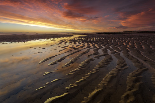 blyth blythbeach northeast northumberland sunrise ripples sand sea northsea northeastengland clouds water waterscape canon canon6d