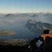 A samozřejmě pod námi leží celé Luzernské jezero , foto: Petr Socha - SNOW