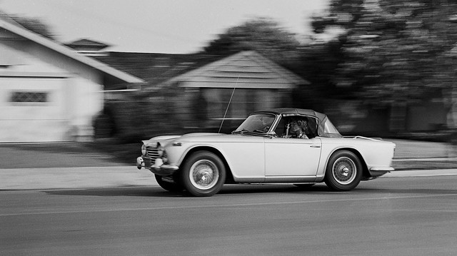 Triumph TR4A on Foster Rd. in Rossmoor