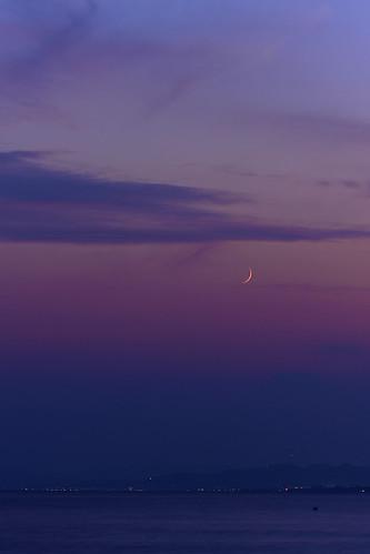 blue sunset japan sunsets hour kanagawa kugenumabeach pwpartlycloudy enoshimakugenumabeach