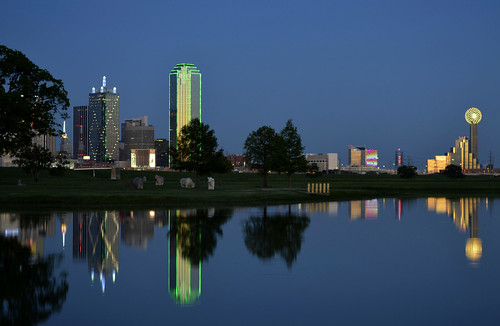 reflections dallas dusk