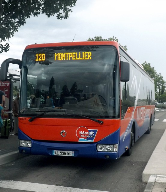 Herault Transport Irisbus Crossway AL996WC at Montpellier airport on the 120, 08/09/2014.