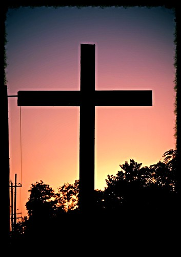 sunset sky usa texas cross symboloflove