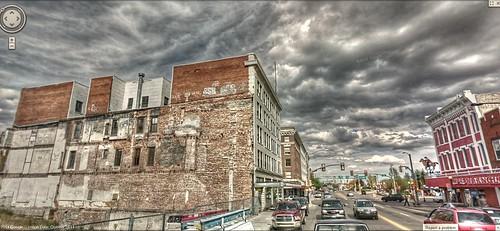 downtown wyoming storms hdr cheyenne panamerican wyo photomatix gsv storns googlestreetview panamericantrek