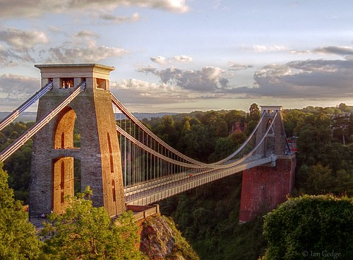 uk bridge england english river bristol view suspension britain towers gorge british avon clifton span isambardkingdombrunel flickrbronzetrophygroup