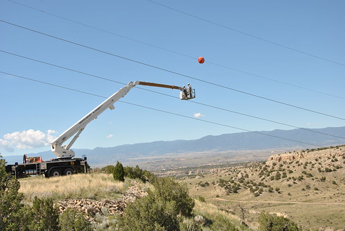 Fort Carson marker ball installation | by Western Area Power Admin