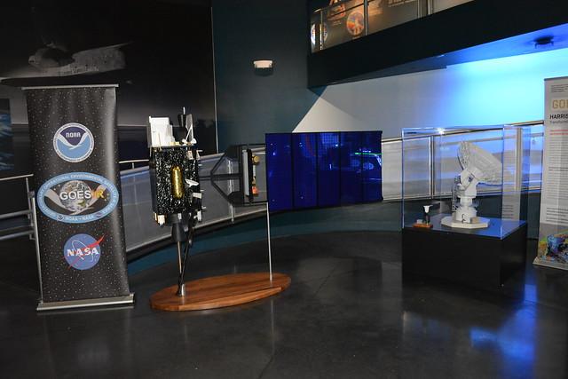 GOES-R Spacecraft Exhibit at Kennedy Space Center