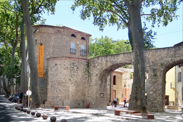 Les anciens remparts de Céret (Pyrénées-Orientales)