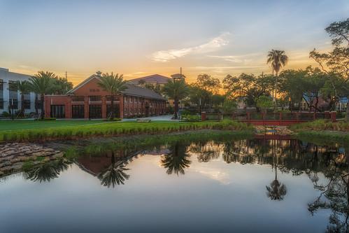 reflection sunrise tampa effects florida processing hdr waterworkspark ulele nikphotomatix