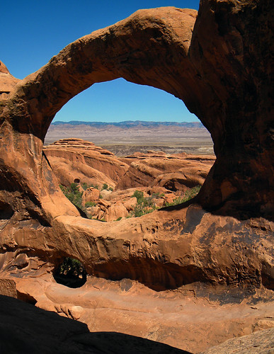 The Double O Arch in Arches National Park's Devil's Garden