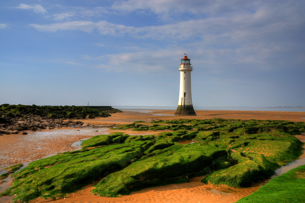 NEW BRIGHTON LIGHTHOUSE (PERCH ROCK), NEW BRIGHTON, MERSEYSIDE, ENGLAND.
