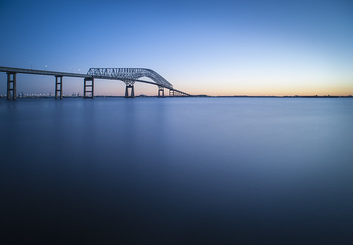 longexposure bridge sunrise river baltimore keybridge francisscottkeybridge