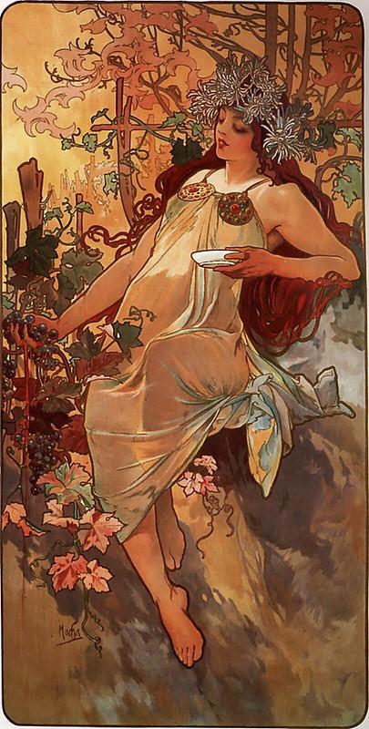 Les Quatre Saisons - Automne (Autumn) by Alfons Mucha (1896)