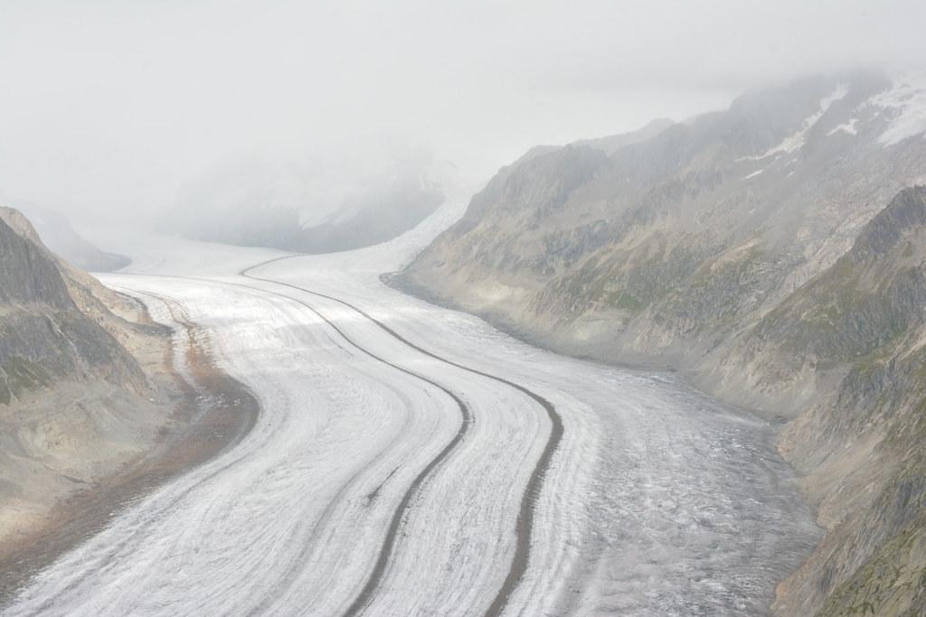 Le glacier d'Aletsch.