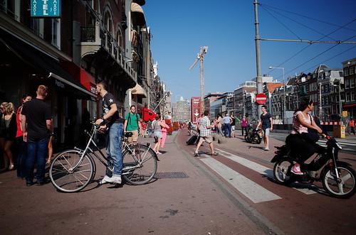 sunny Rokin, Amsterdam [Ricoh GR]