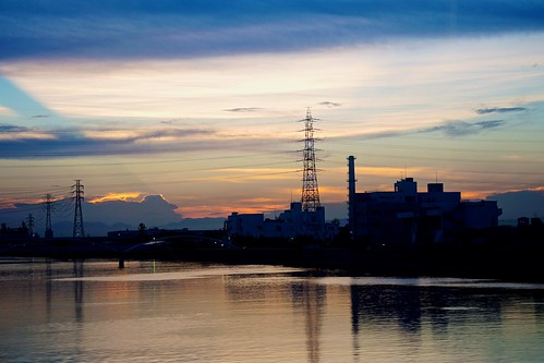 ocean sunset reflection silhouette japan sony nagoya 日本 海 名古屋 electriclines 夕焼け シルエット apsc a6000 ©jakejung sel1670z e1670mmf4zaoss α6000 ilce6000