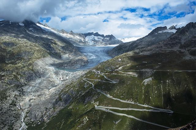 Rhône Glacier and the Furka pass area , No. 2193.