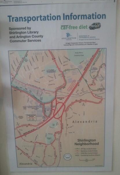 Transportation Options Map at the Shirlington Library, Arlington County, Virginia