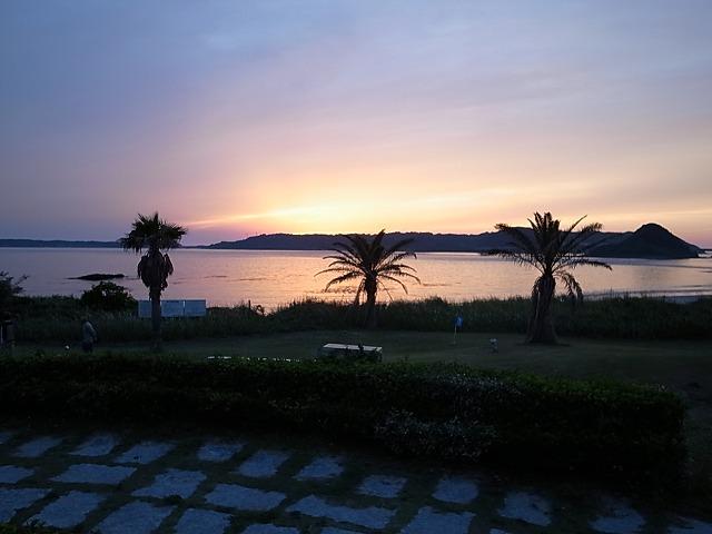 <p>日没の景色</p>