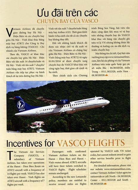 Vietnam Airlines Heritage inflight magazine 2016 February, Vietnam Air Services