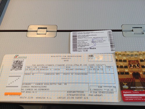 Train and Museum Tickets Venice Italy 2014   by photos by ys