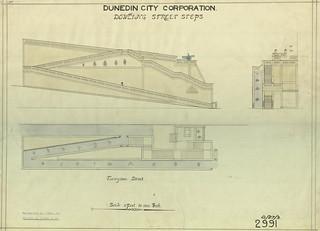 Dowling Street Steps plans 1927