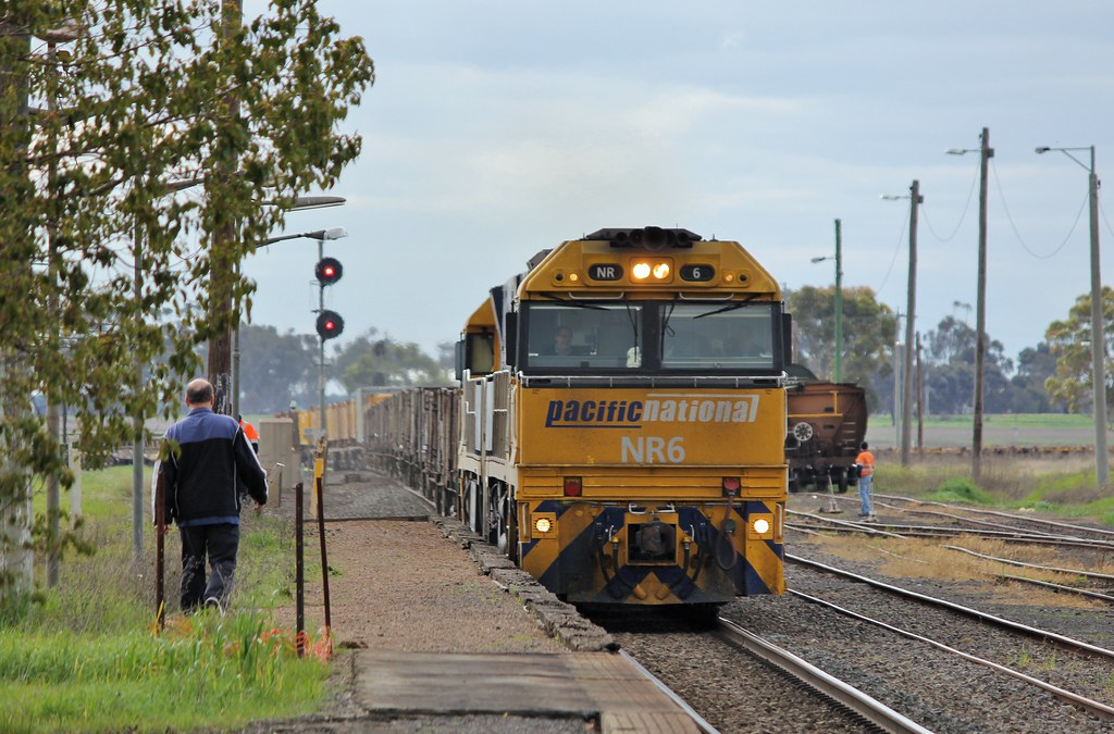 NR6 and NR83 roll through Murtoa station on XW4 steel service by bukk05