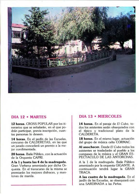 Programa Fiestas de San Lorenzo Año 1986