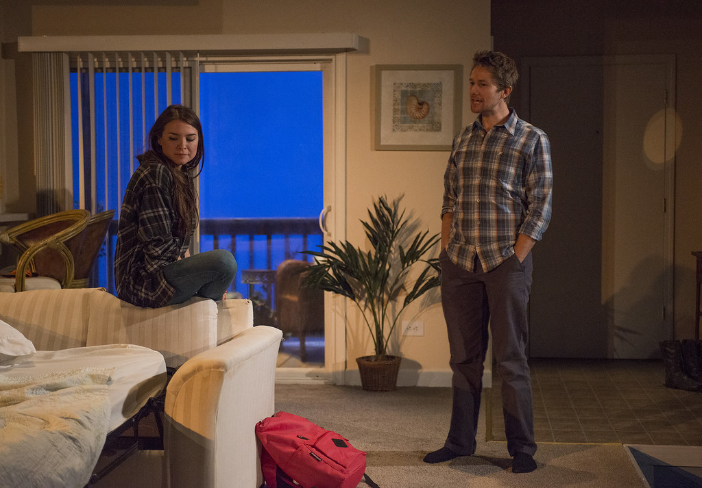 Leah Karpel (Lizzy) and Erik Hellman (Gabe)