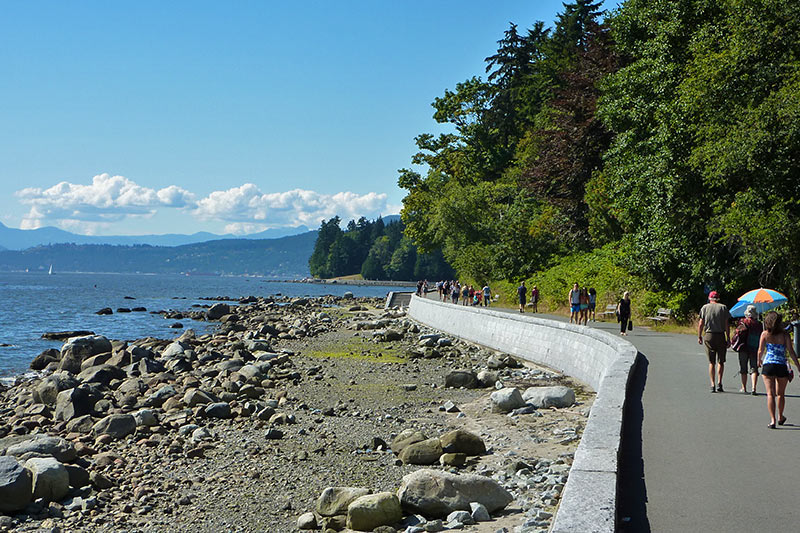 Stanley Park Seawall near Second Beach, Vancouver, British Columbia