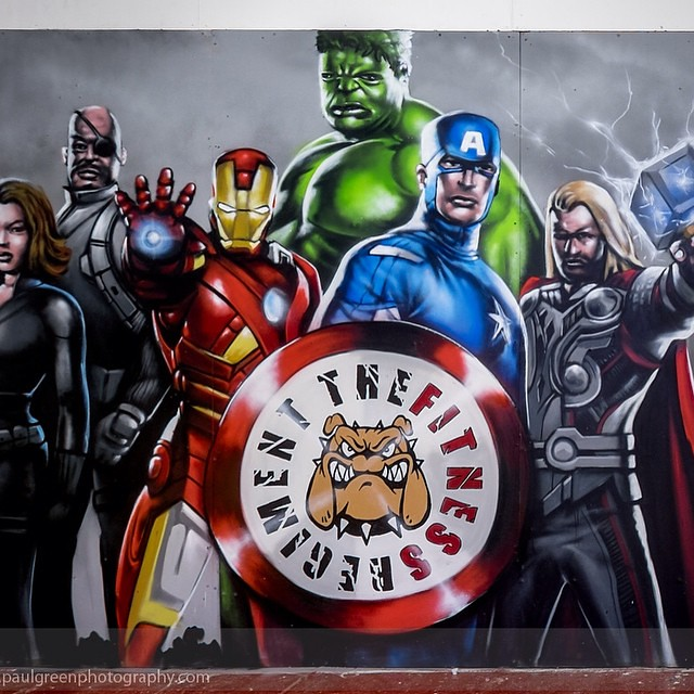 Marvel Avengers @ Fitness regiment#spraypaint #superhero #… | Flickr