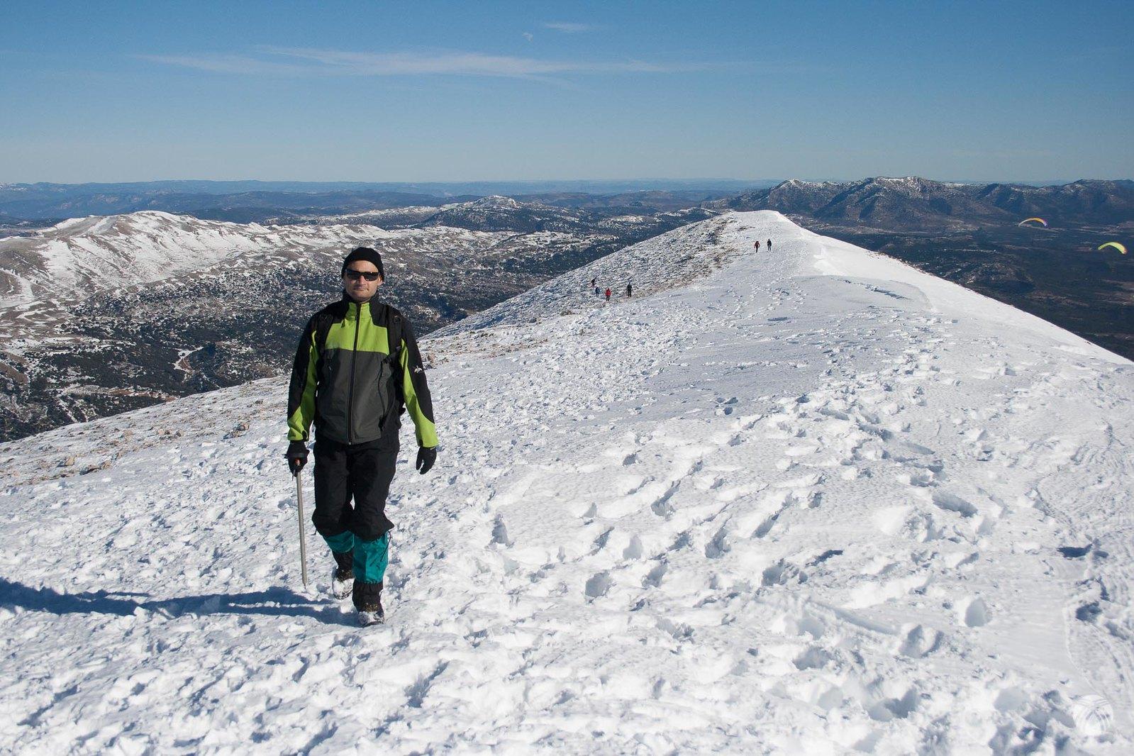 Miguel llegando a la cumbre
