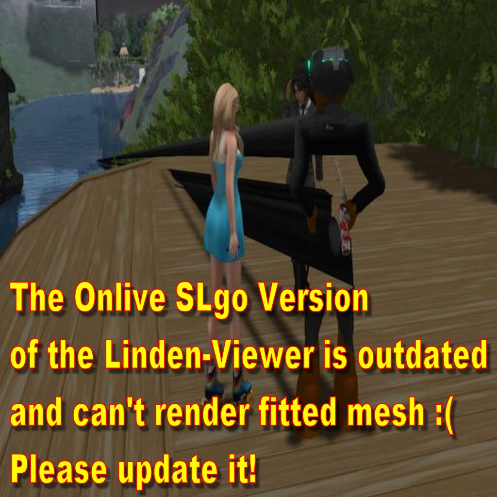 Secondlife - The Onlive SLGo viewer can not render fitted