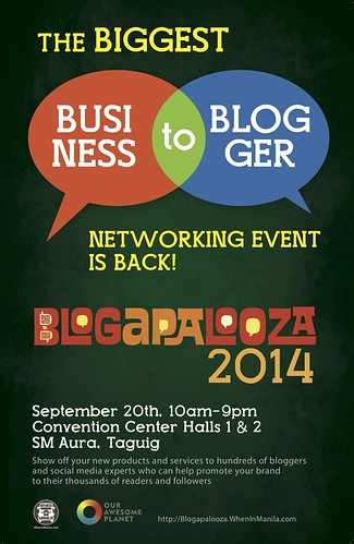 Blogapalooza Poster | by OURAWESOMEPLANET: PHILS #1 FOOD AND TRAVEL BLOG
