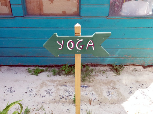 Yoga sign, West End, Roatan, Honduras | by gruntzooki