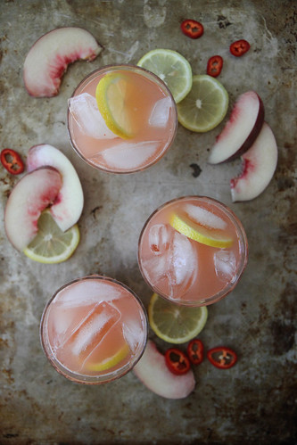 Spicy White Peach Lemonade | by Heather Christo