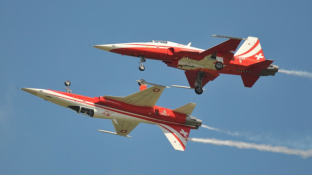 Swiss Air Display Inverted And Close ...